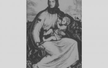 "Естамп ""Карпатська мати"".  1923. Касіян."