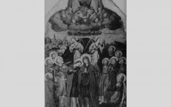 """Ікона """"Вознесіння христове"""" з іконостасу церкви Воздвиження честного Хреста монастиря Скит Манявський. Й.Кондзелевич"""