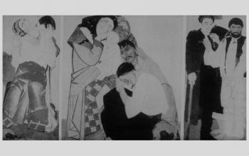 """Картина """"Життя. Триптих (Любов. Сім'я. Повернення). 1925-1927. Ф. Кричевський"""