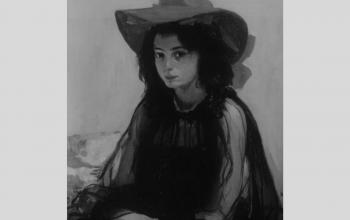 """Картина """"Дівчина в Червоному капелюсі"""". 1902-1903. О. Мурашко"""