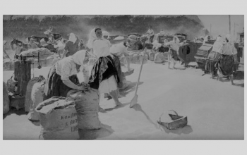 """Картина """"Хліб""""  (1949). Т. Яблонська."""