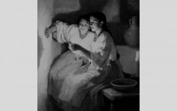 """Картина """"Святочне ворожіння"""". 1888.  М.Пимоненко"""