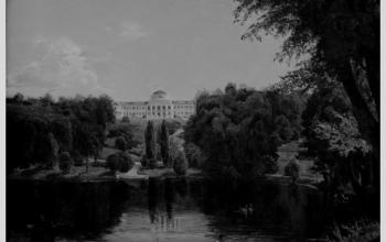 """Картина """"Садиба Тарновського в Качанівці"""" В.Штернберг. 1837"""
