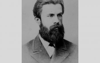 """Михайло Драгоманов. Член Громадівського руху. Після Емського указу 1876 р. емігрував до Женеви, де публікував журнал """"Громада""""."""